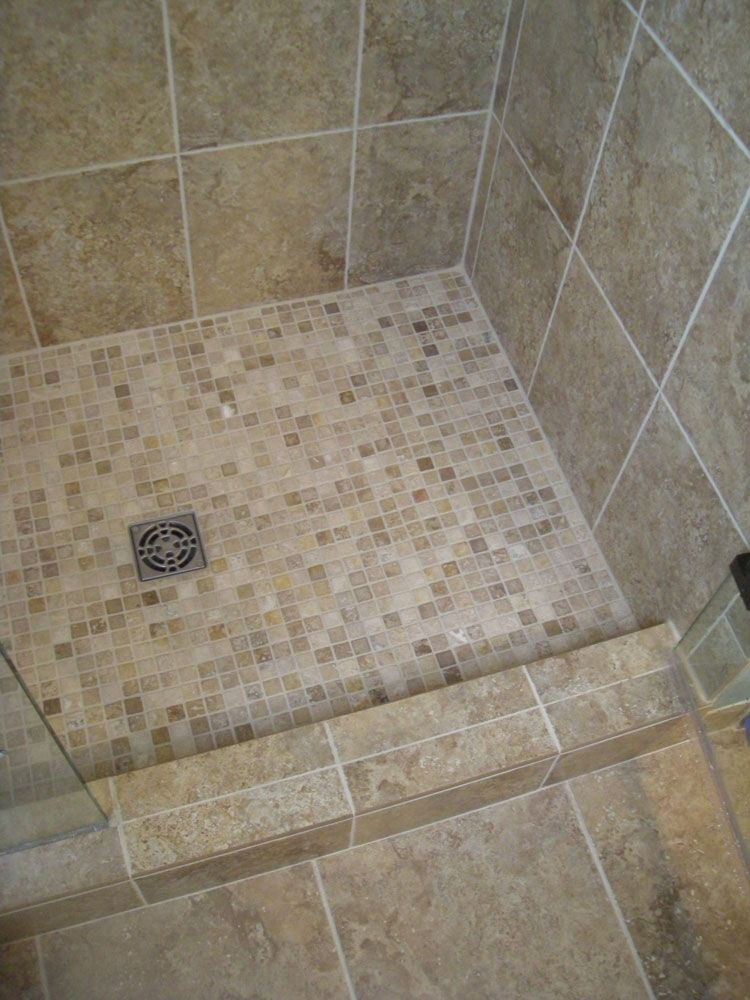 Tiled bathroom shower these showers for a bathroom for Mosaic tile bathroom design