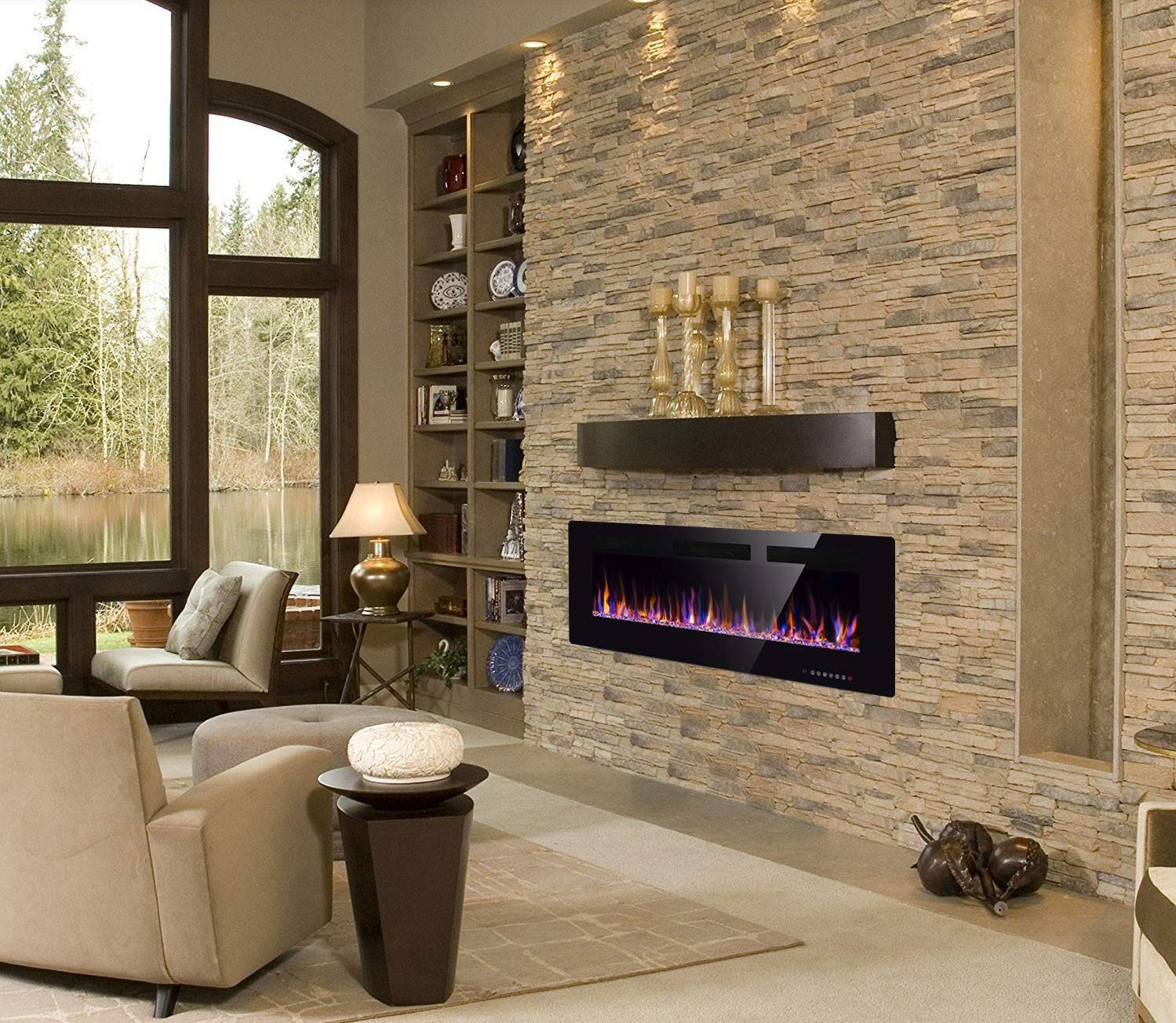 Electric Fireplace In-Wall Recessed Wall Mounted ...