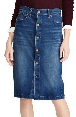 a36a79c4f8  ad Polo Ralph Lauren Button Front Pencil Skirt Cute Fall 2017 Button- Down  Skirt