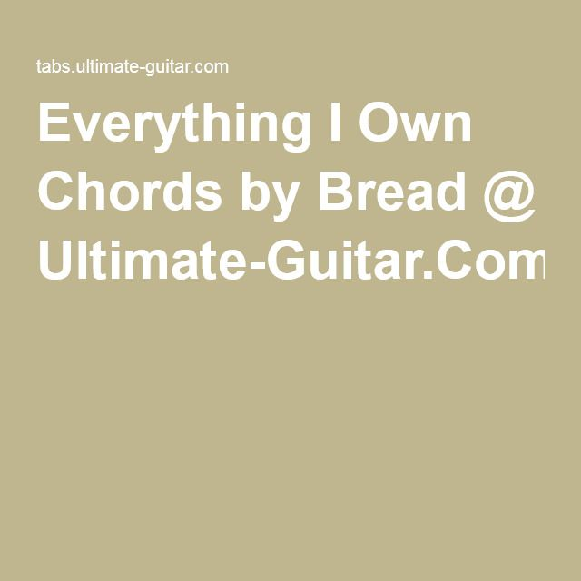 Everything i own guitar