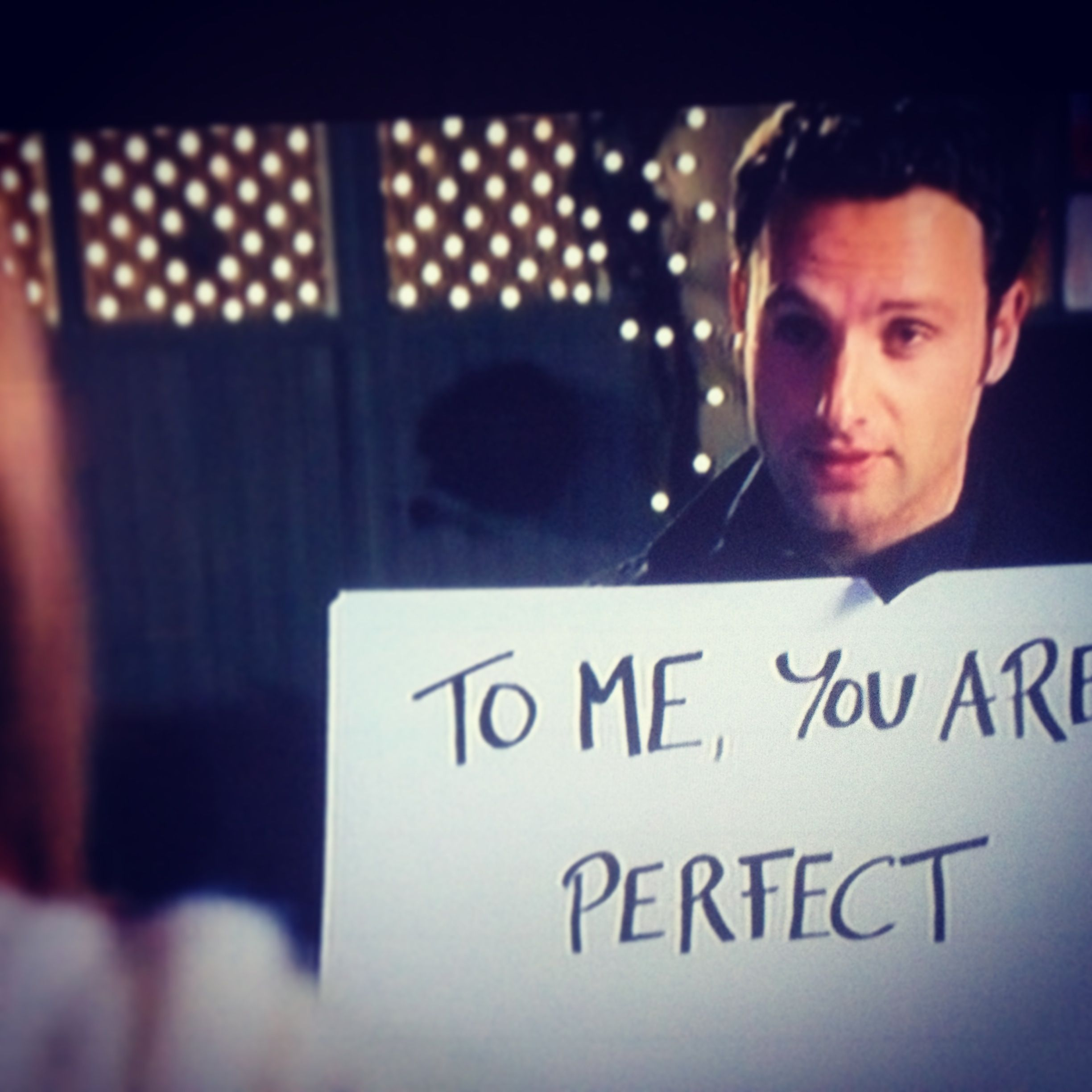 Love Actually... one of my all time favorites with one of ... Love Actually Quotes To Me You Are Perfect