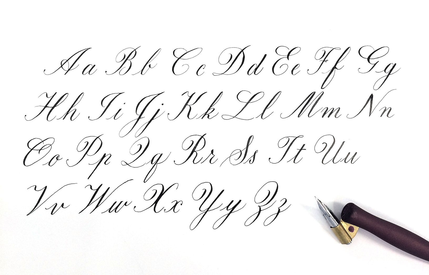 Copperplate Calligraphy Alphabet