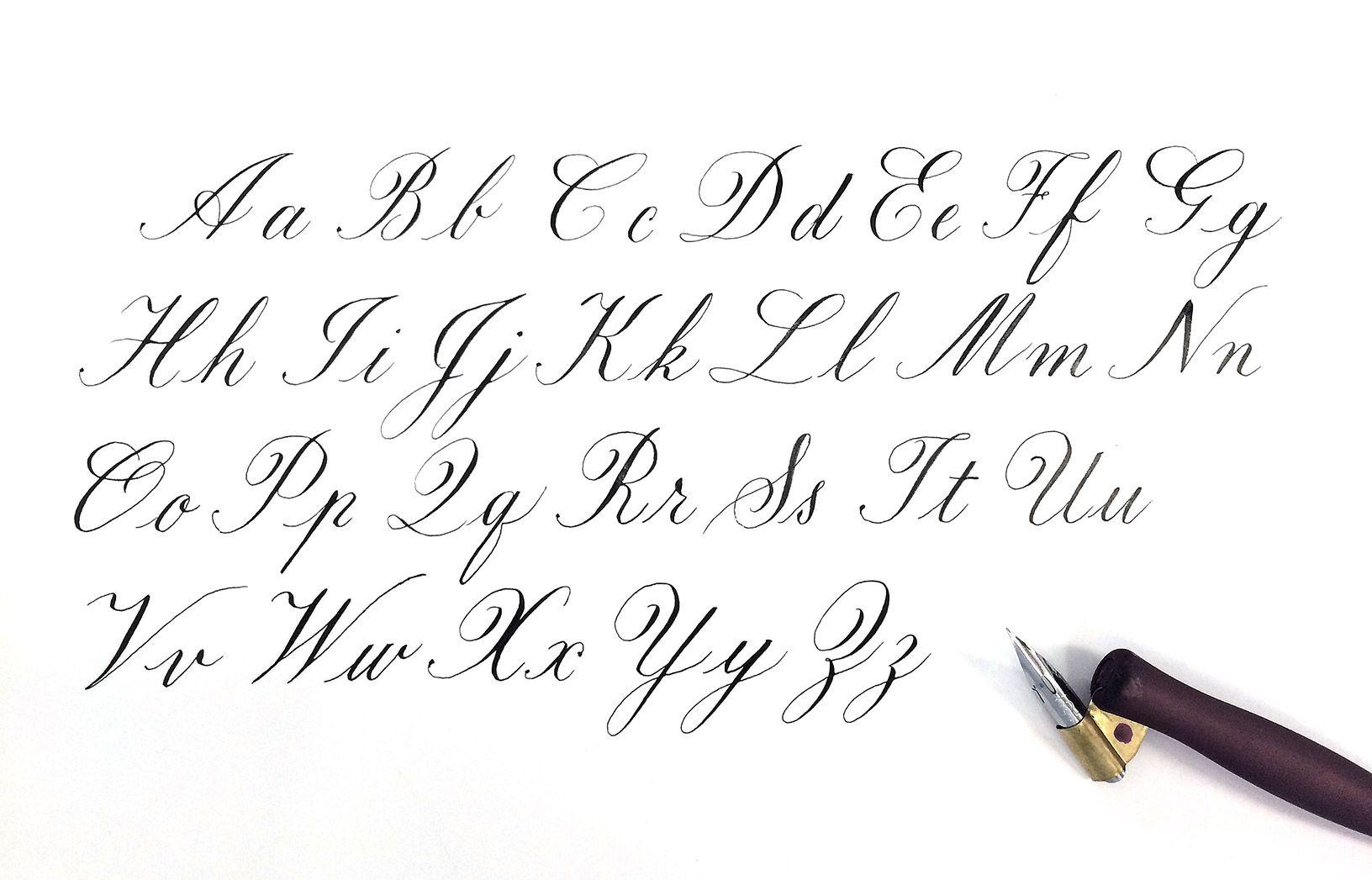 Copperplate Calligraphy Alphabet