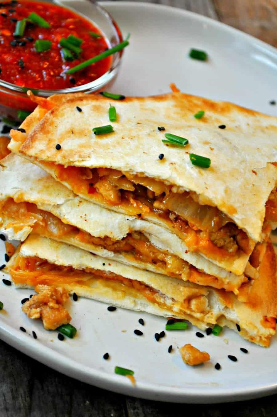 Vegan Kimchi Quesadillas | Recipe | Vegan kimchi ...