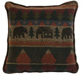 Cabin Bear Pillow