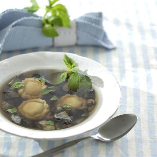 Грибной суп с домашними варениками