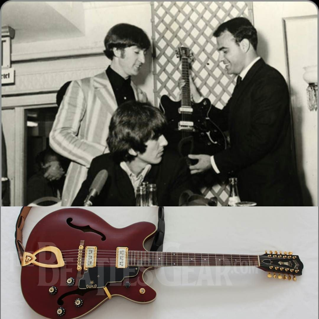 0fffec3be ... of 1966 during  thebeatles last U.S. tour the Guild  guitar company  presented  JohnLennon with a custom made 12 string model called the Starfire  XII.