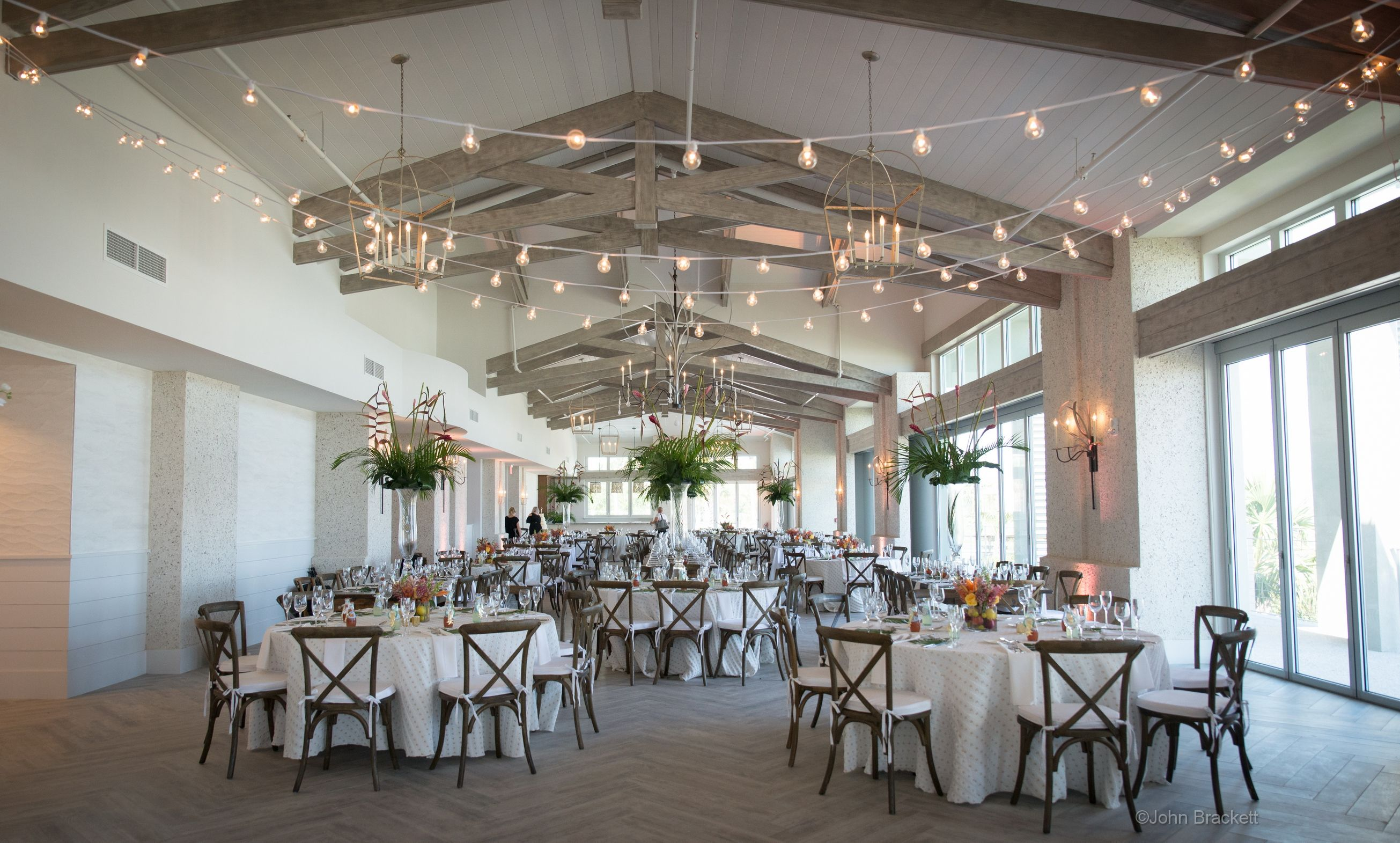 Even Cafe Lights Look Great In Our New Oceanfront Wedding Venue The Grand Ocean Terrace Hilton Head Island Resorts Hilton Head Wedding Hilton Head Island