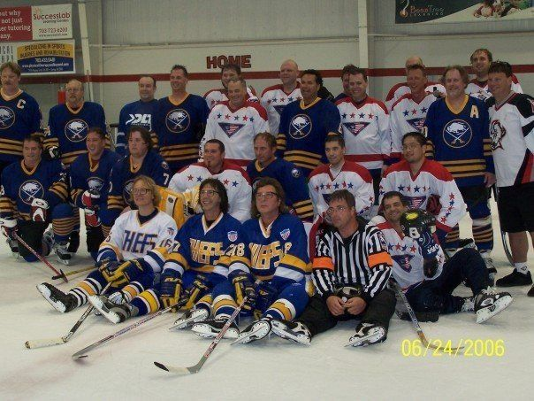"""A group picture at the """"Hanson Brother"""" fun raiser."""