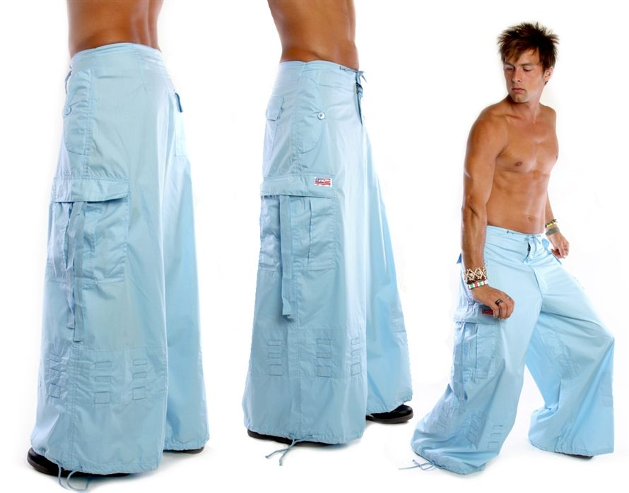Light Blue Wide Leg UFO Pants | kick wear | Pinterest | Pants ...
