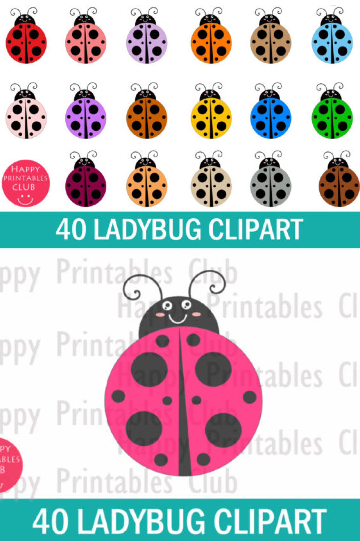 Lady Bug Clipart Cute Lady Bug Clipart Graphic By Happy