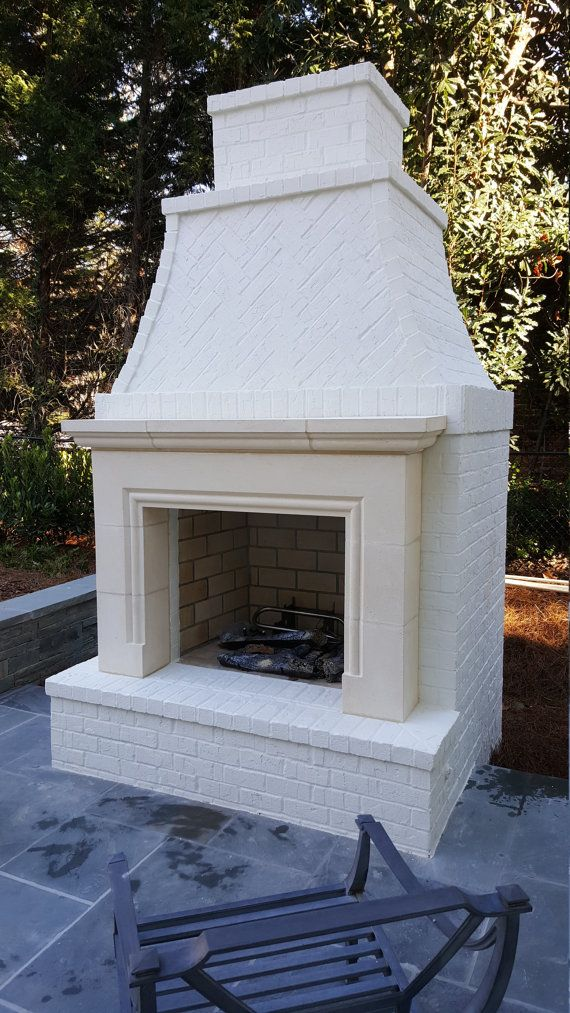Cast stone fireplace Exterior Ideas Pinterest