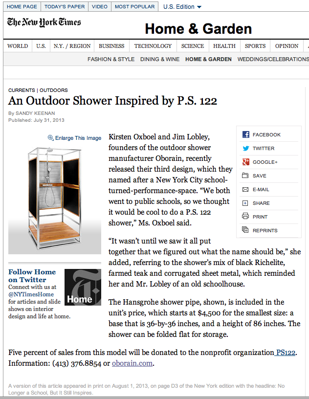 Weu0027re In The New York Times Home U0026 Garden Section! #newyorktimes #