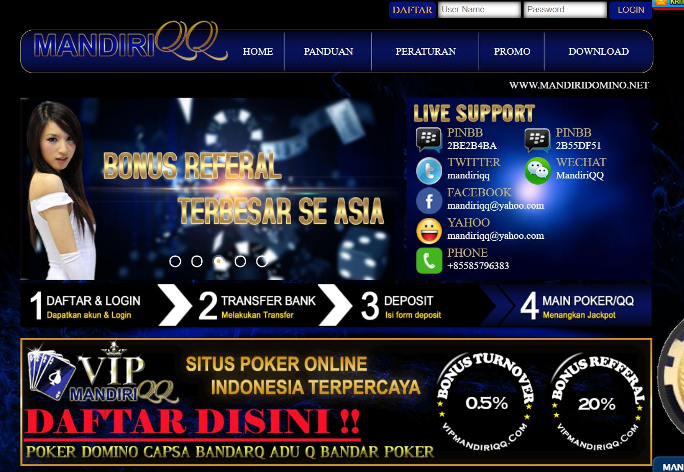 Pin di Poker Online Terpercaya