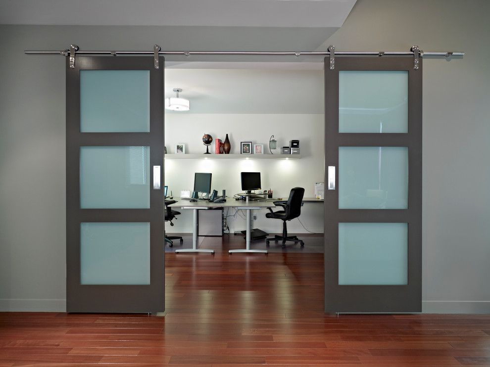 Modern Barn Doors Home Office Contemporary With None Sliding Doors Interior Modern Barn Door Barn Doors For Sale