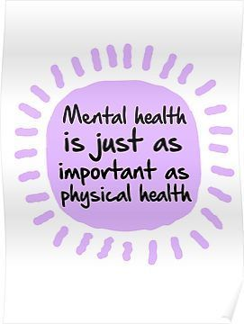 Purple  Mental health is just as important as physical health Poster by thepositivepage Lila  Psychische Gesundheit ist genauso wichtig wie körperliche Gesundheit