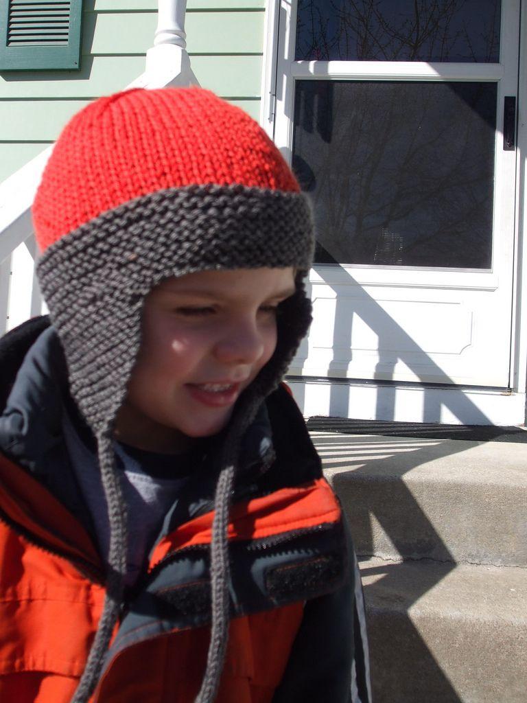 Ear flap hat child hat knitting pattern flap hat