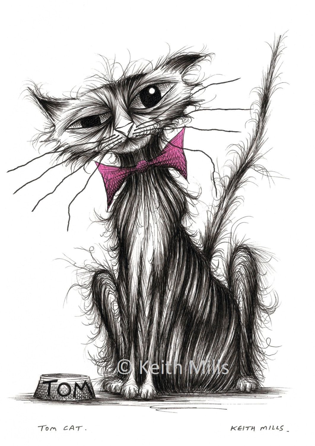How I Draw A Cat Drawing A Realistic Cute Kitten With Pencil Ink Fine Art By Mei Yu Meiyuart Cat Drawing Drawings Kittens Cutest