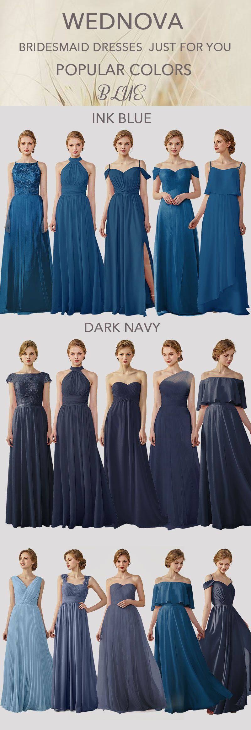 best chiffon bridesmaid dresses ink blue perfect dark navy