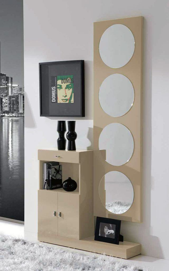 Meuble du0027entrée moderne + miroirs TOM, disponible en 2 coloris