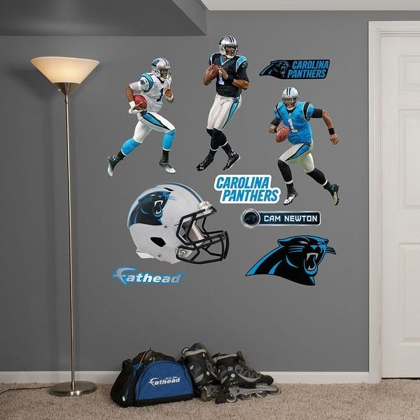 Carolina Panthers Cam Newton Hero Pack Wall Decals by Fathead ...