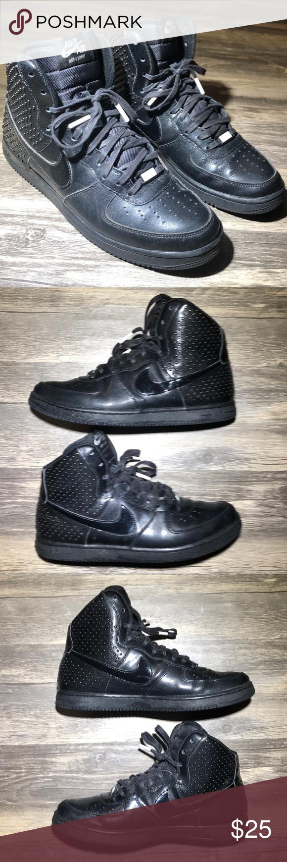 Polémico manual Minimizar  Nike Air AFI-Light Black High Top Studded Sneaker Pre-owned (no box) Nike  Air AFI-Light Size 9 Women's Model … | Studded sneakers, Black high tops,  Dress shoes men