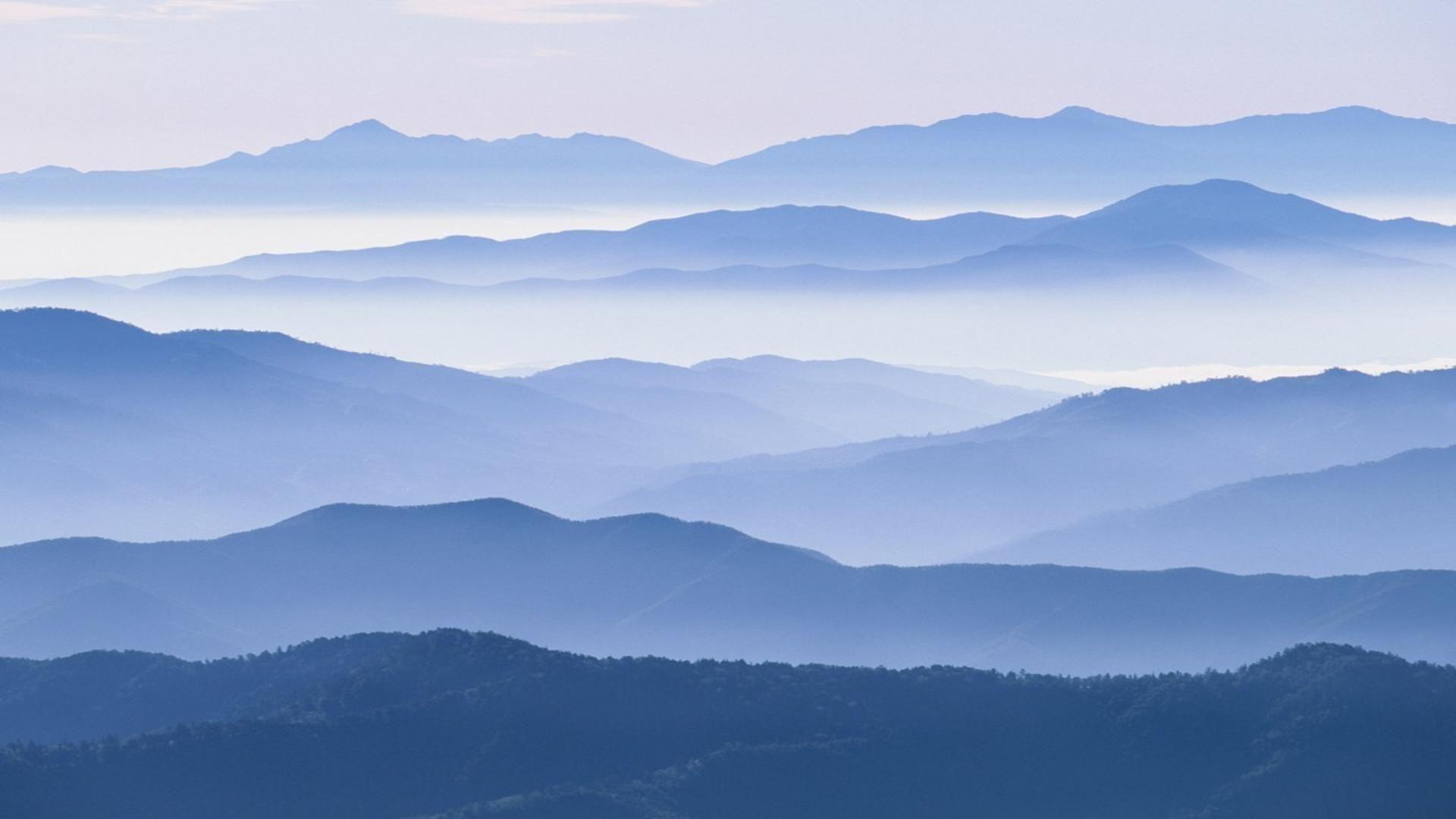 Japan Blue Mountains Miyukiutada Free Desktop Background