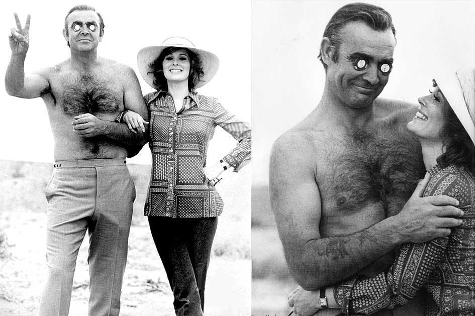 Sean Connery And Jill St John Rare Weird Awesome Celebrity