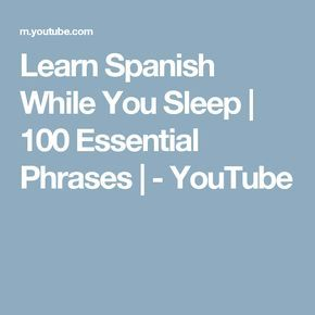 Can you learn spanish in your sleep