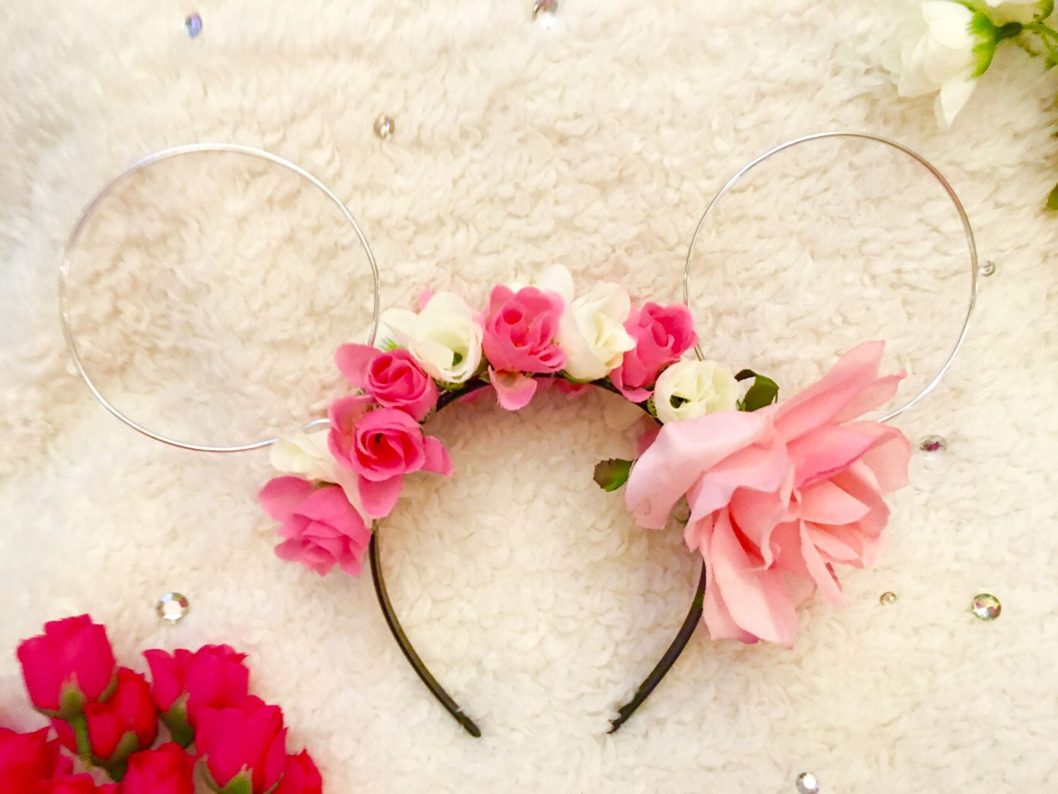 Wire minnie ear flower crown by dylansdisdesigns on etsy httpswww wire minnie ear flower crown by dylansdisdesigns on etsy httpsetsy izmirmasajfo