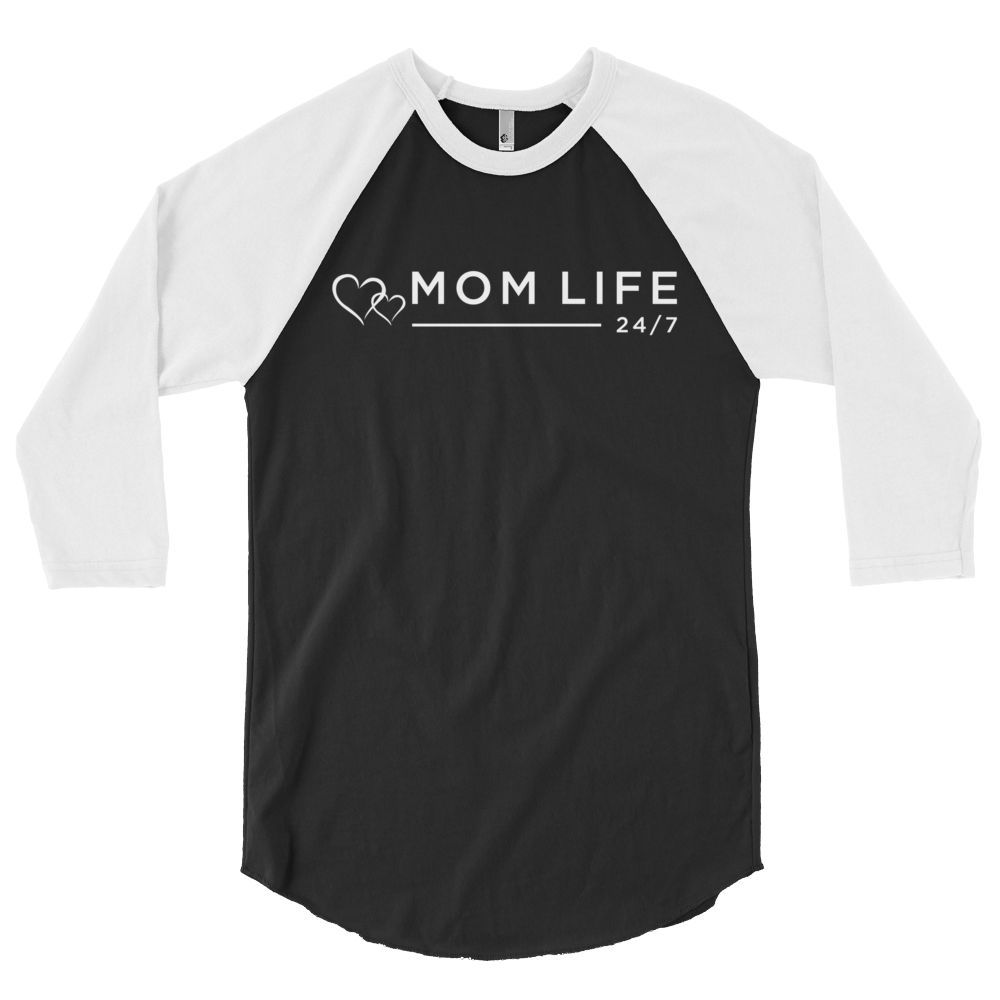 MOM LIFE 24/7 - 3/4 Sleeve Baseball T (Unisex)