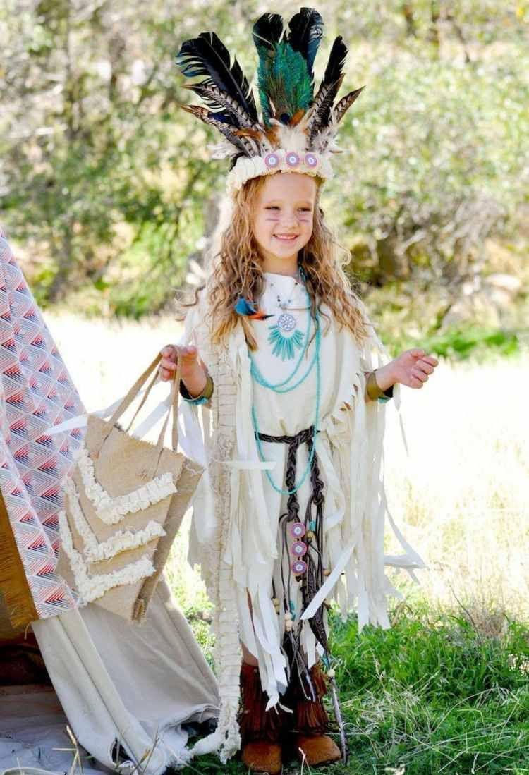 Als Indianer Zum Fasching Verkleiden Ideen Anleitungen Fur Das Kostum Indianer Kostum Kind Indianer Kostum Selber Machen Und Indianerin Kostum