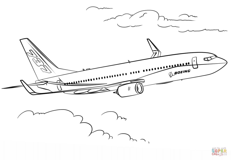 Gratis Kleurplaten Planes.Boeing 737 Kleurplaat Gratis Kleurplaten Printen Postais