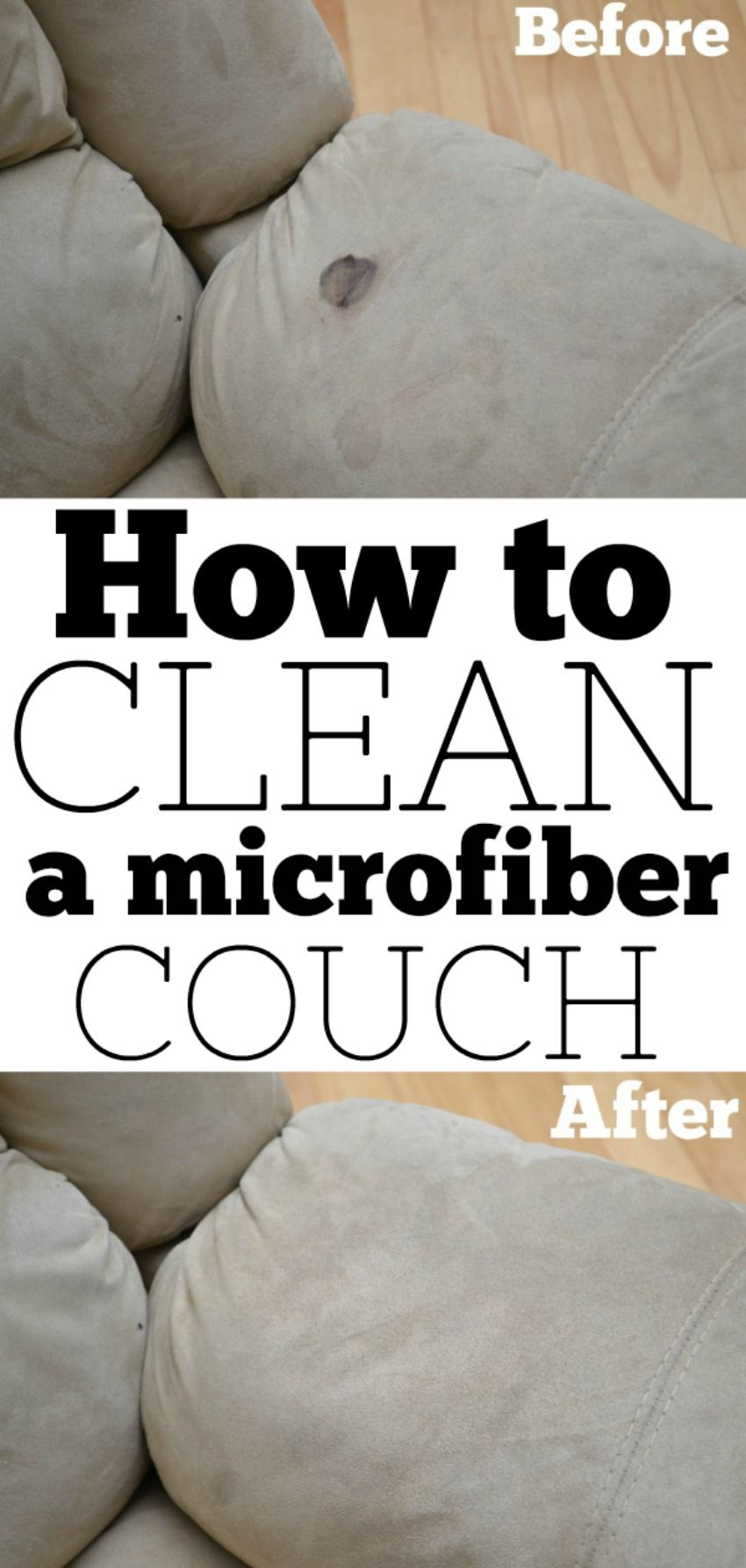 Get all the tips you need on how to clean your microfiber couch #microfiber #cleaning #couch #hacks
