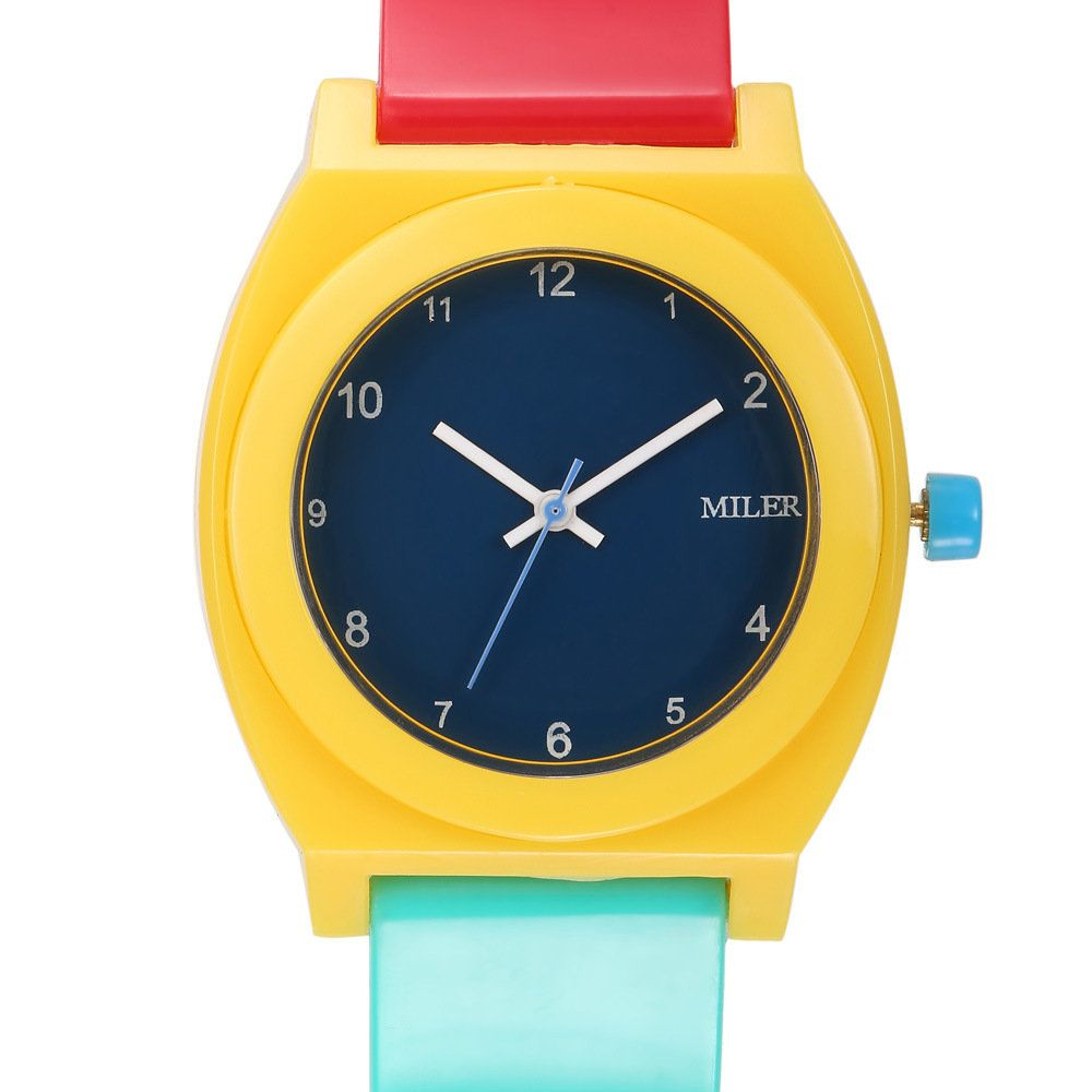 MILER Women Watch Candy Colorful Jelly Silicon Strap Student Girl Casual Quartz Wristwatch at Banggood