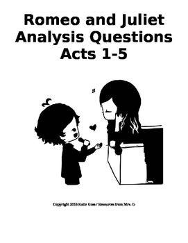 Bundle: Romeo and Juliet Close Reading / Analysis