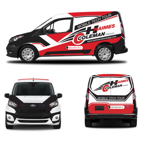 Vehicle Wrap Ford Transit Connect Van For Mobile Showroom Car
