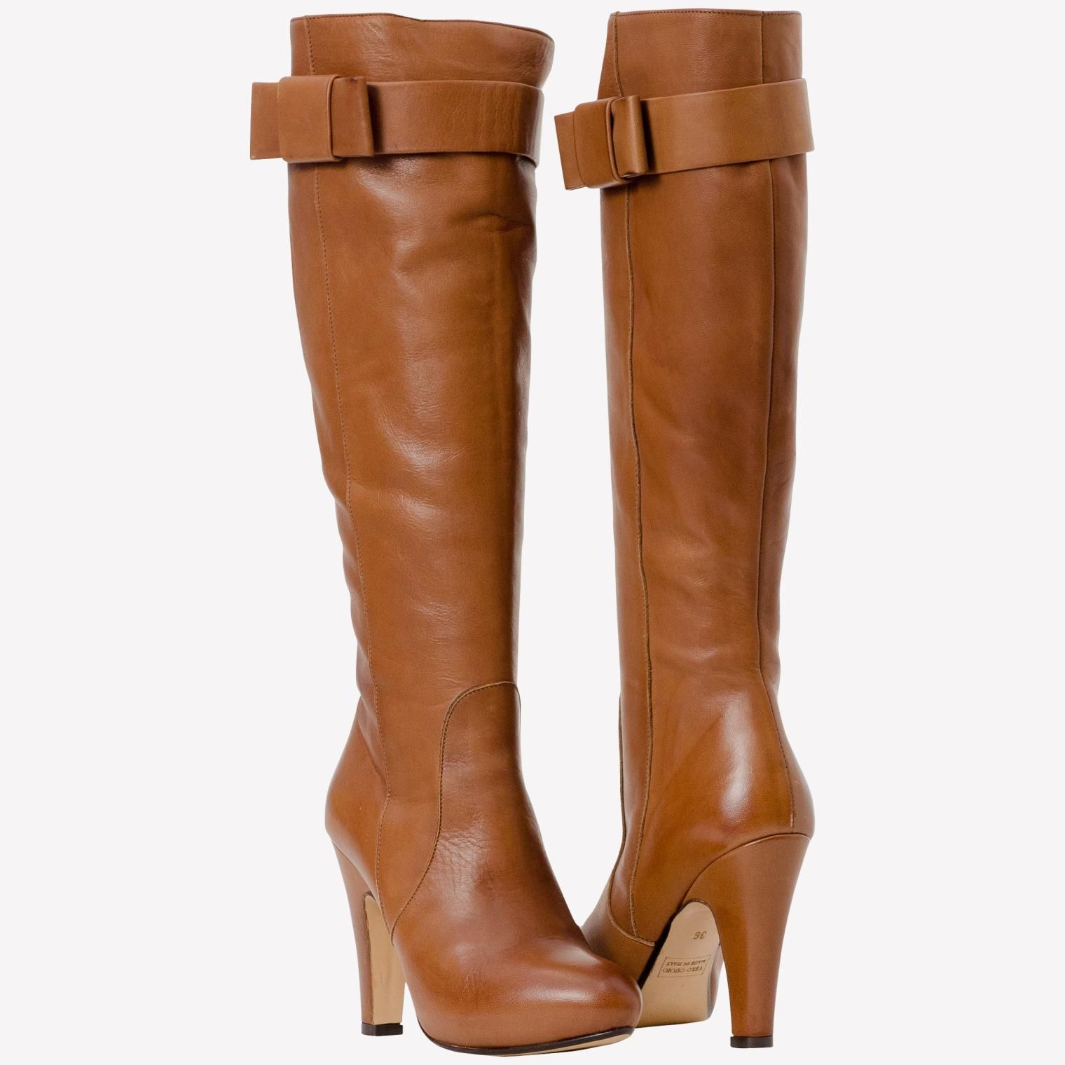 tall tan boots with heels for women | Marion Beige Tan Tall Leather Boots |  Paolo