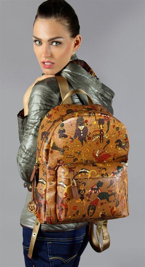 82d0bdbe7b Piero Guidi Magic Circus Vintage Cinnamon Backpack | Piero Guidi in ...