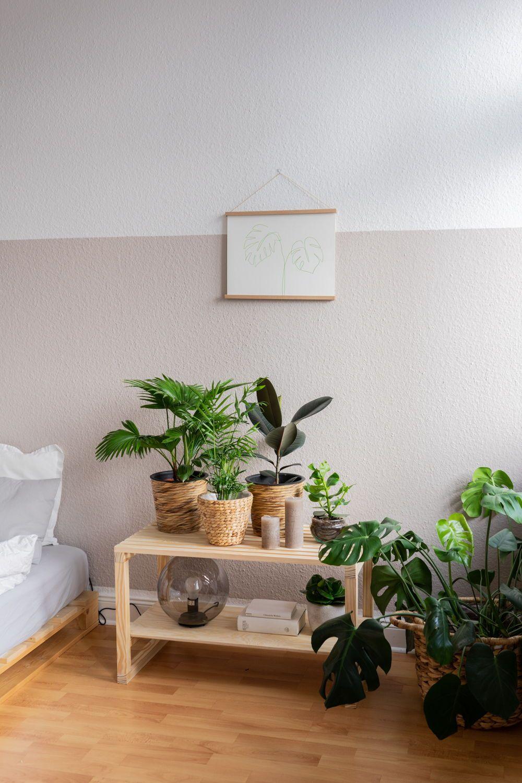 Diy Deko Idee Urban Jungle Feeling Im Schlafzimmer In 2020 Wohnzimmer Pflanzen Diy Deko Ideen Zimmer Deko Ideen