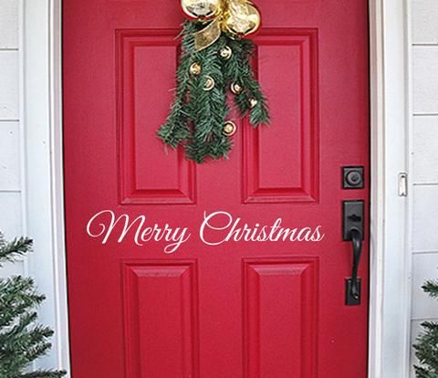 9.95 Merry Christmas Door Decal