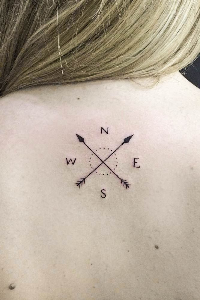 Photo of A guide to compass tattoo with cool design ideas – arrow compass tattoo …