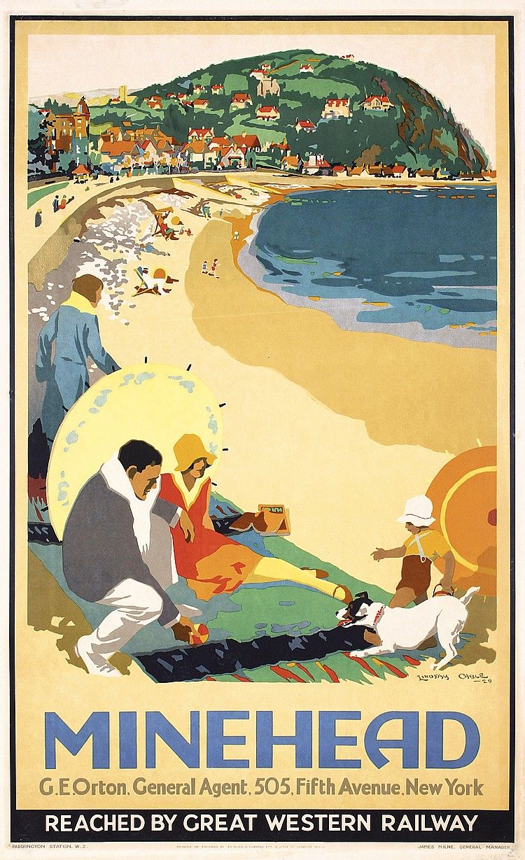 Sold Price Stunning Original 1920s British Seaside Travel Poster May 6 0116 1 00 Pm Pdt Travel Posters Railway Posters Vintage Travel