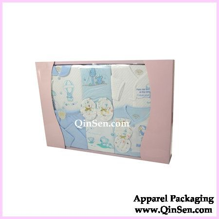 Classic Paper Box For Baby Clothes Set Baby Clothes Packaging