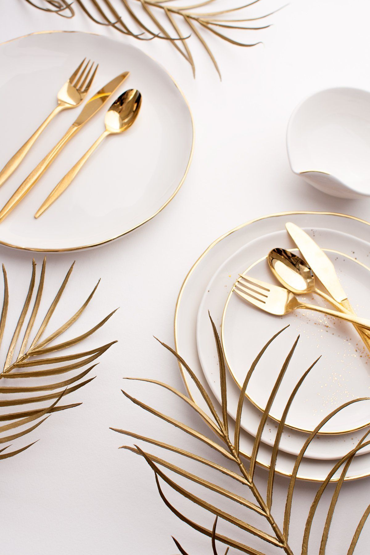 Making Mealtimes Beautiful: Gold Dipped Magnolia Leaf Calligraphy Place Cards