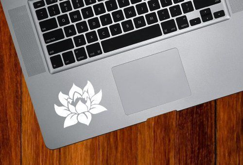 Amazon.com : Lotus Flower - Design 1 - Trackpad / Keyboard - Vinyl Decal (Color Variations Available) (White) : Decorative Laptop Skin Decal...