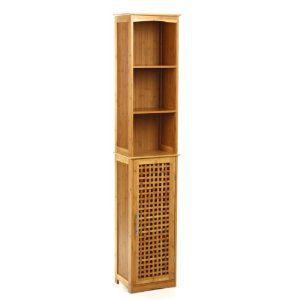HochBadezimmerschrank aus Bambus Amazon.de Küche