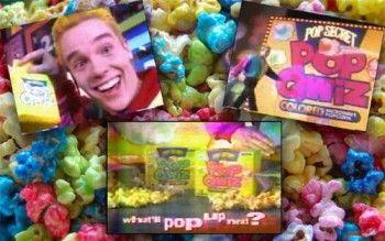 Microwave Popcorn In Rainbow Colors