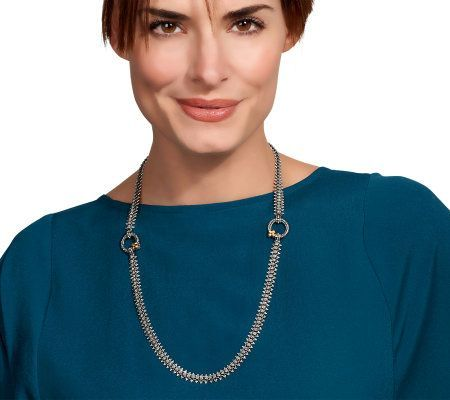 Barbara Bixby Eastern Necklace - those 2 circles open up to add charms and other chains to the main necklace - GENIUS!