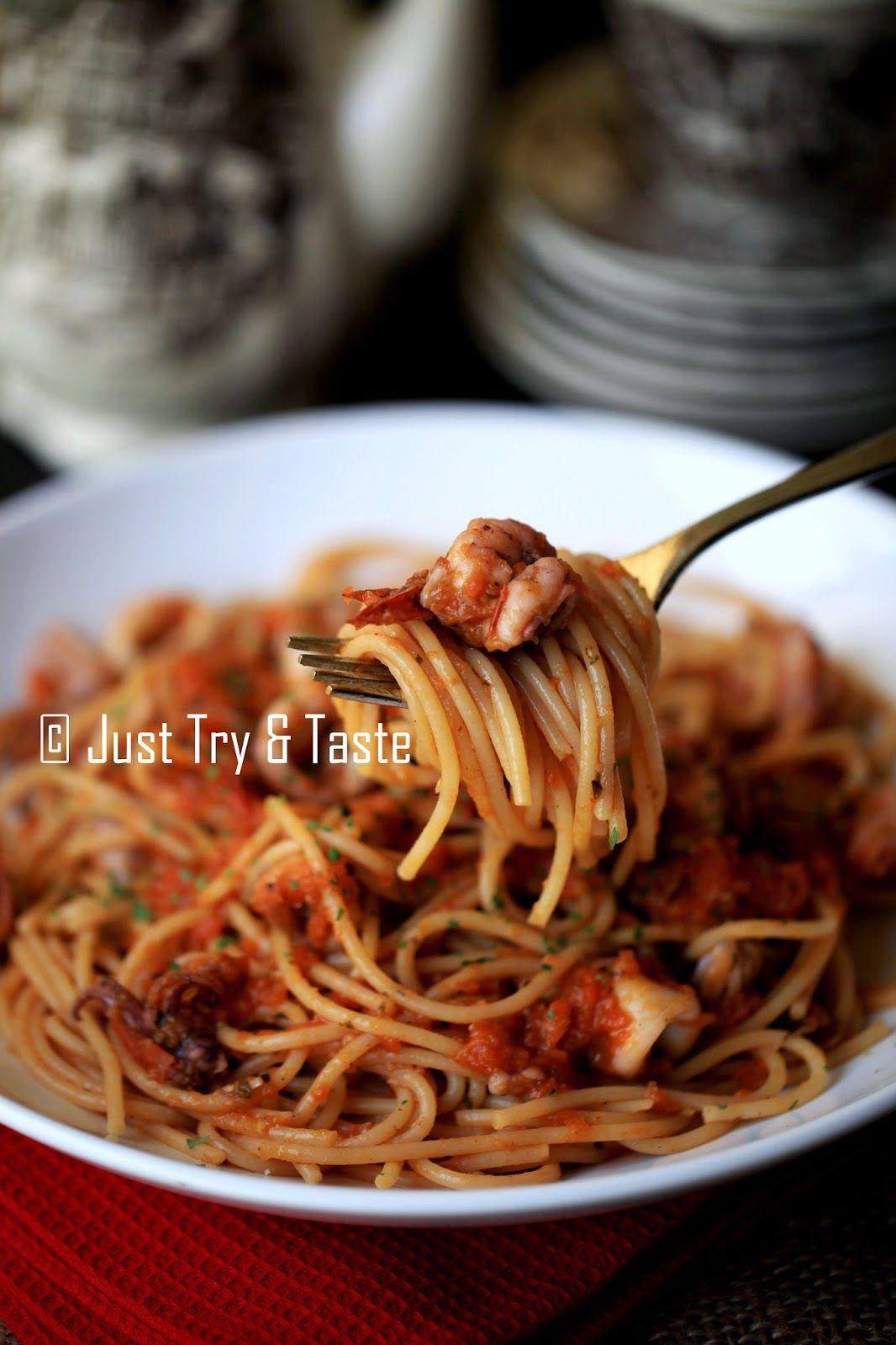 Just Try & Taste: Spaghetti alla Marinara dengan Seafood